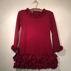Biscotti //🎄Girls Red Dress, Size 6